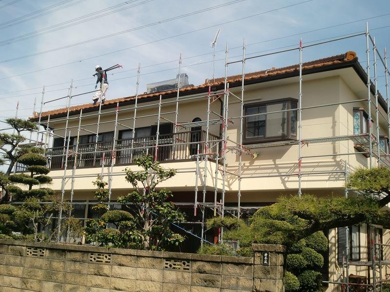 岐阜塗装センター施工実績写真 外壁塗装・雨樋架け替え工事