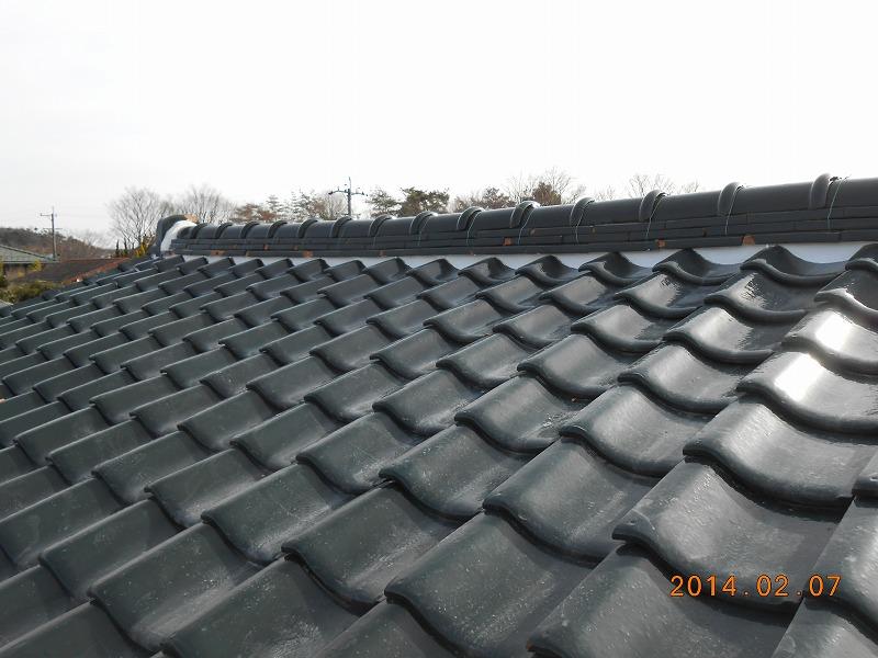 岐阜塗装センター施工実績写真 屋根しっくい・門扉塗装工事