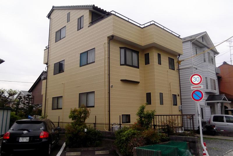 岐阜塗装センター施工実績写真 外壁・樋・軒天・屋根しっくい・外階段・ベランダ工事