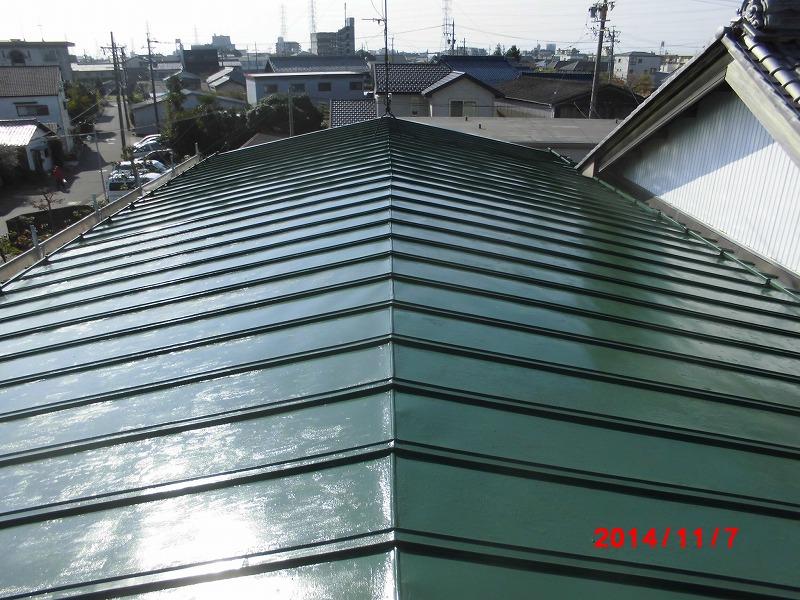 岐阜塗装センター施工実績写真 屋根塗装・軒樋工事