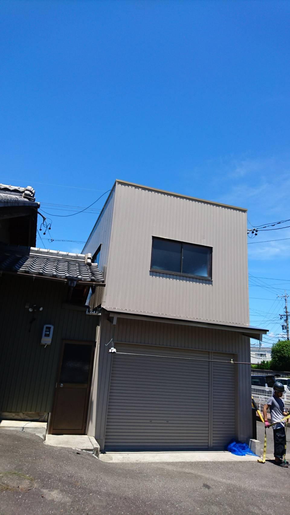 岐阜塗装センター施工実績写真 倉庫屋根外壁塗装工事
