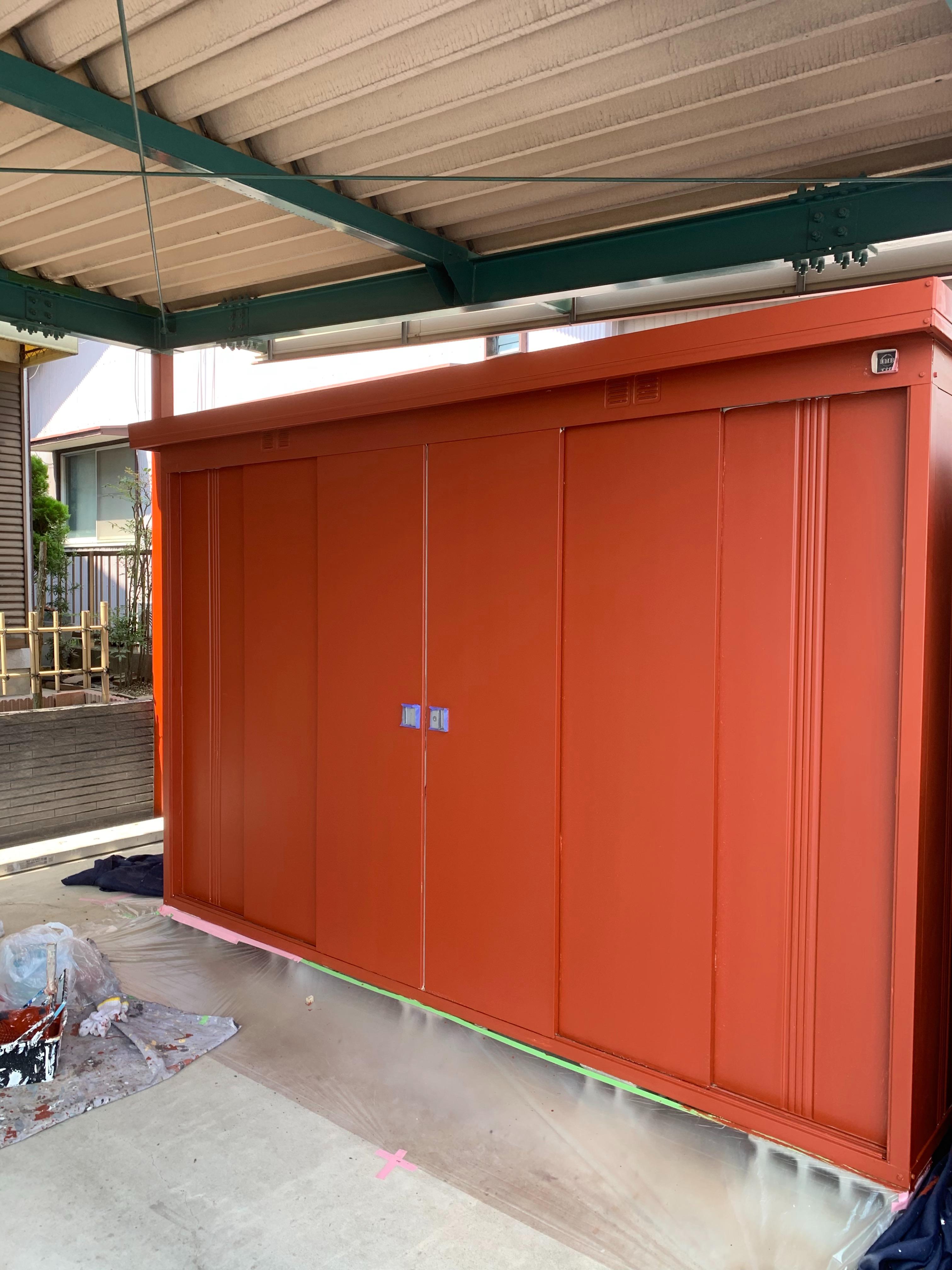 岐阜塗装センターの写真 車庫塗装・雨樋架替え